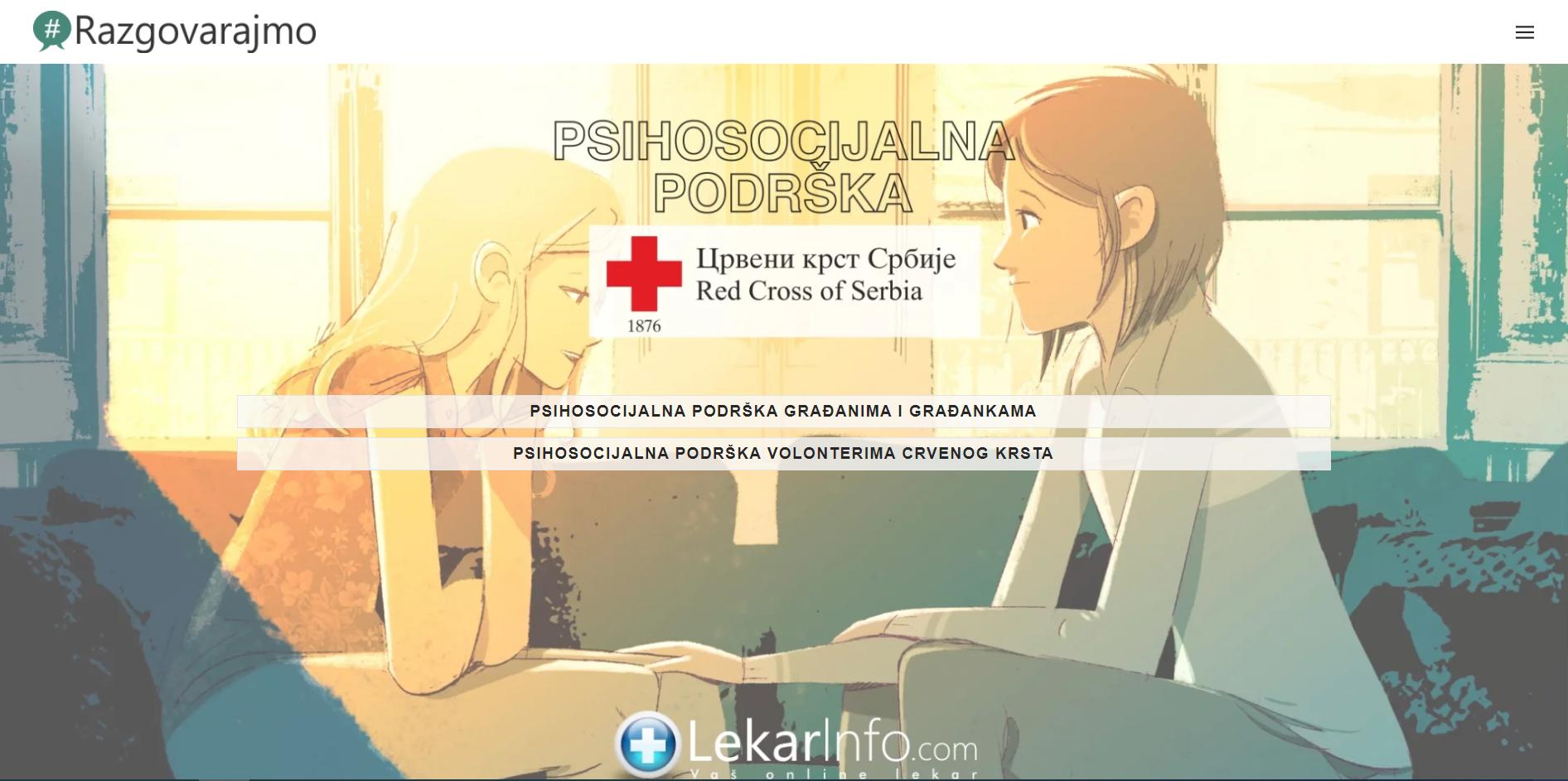 Razgovarajmo-psihosocijalna podrška